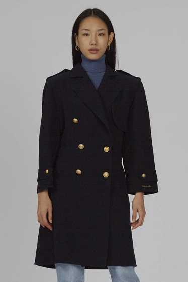 Vintage premium navy oversized Valentino 80's coat