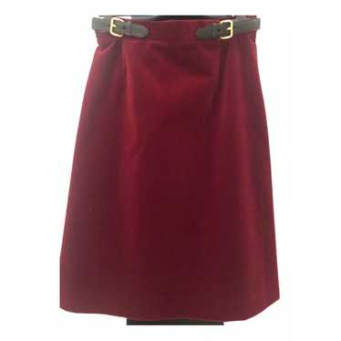 Miu Miu Burgundy Cotton - elasthane skirt for Wome