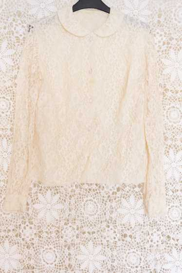 Lace Peter Pan Collar Blouse