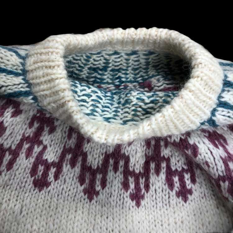 Hand Knit Wool Sweater - image 2