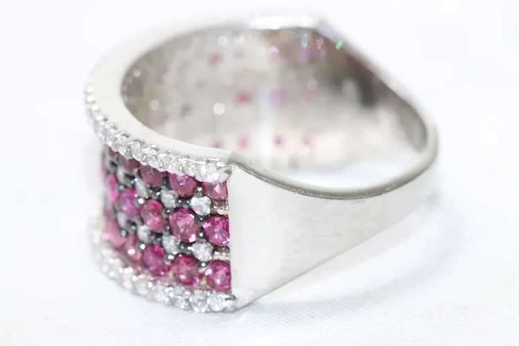 Sterling Silver Ruby Cubic Zirconia Ring - image 4