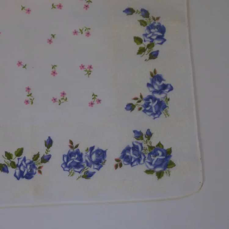 Eiffel Disney Minnie Japanese Napkin Pink And Blue Gingham with Roses