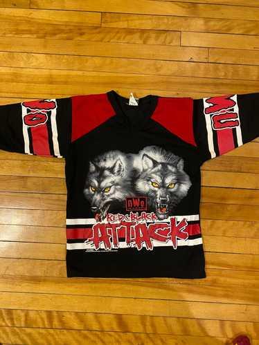 Vintage × Wcw/Nwo × Wwf WCW/NWO 1998 wolves jersey