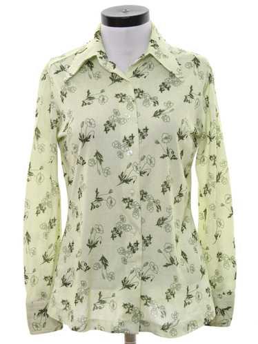 1970's MW Womens Print Disco Shirt