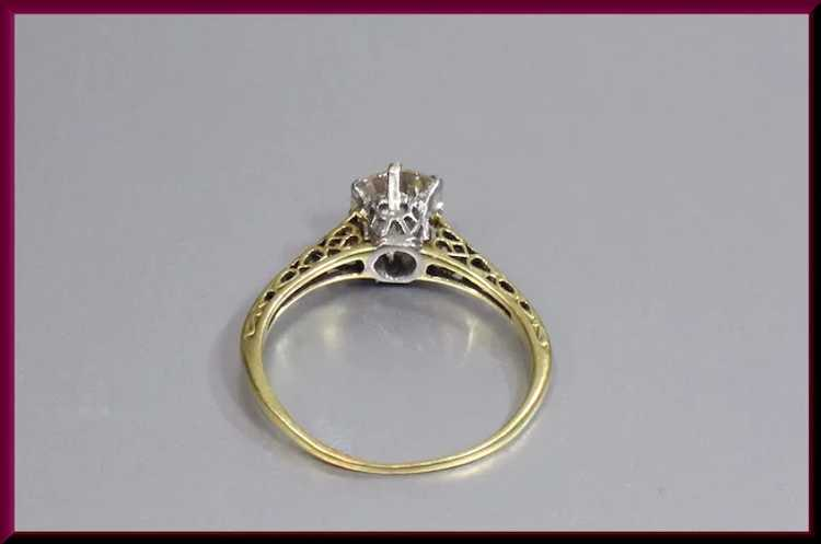 Victorian Diamond Engagement Ring - image 4