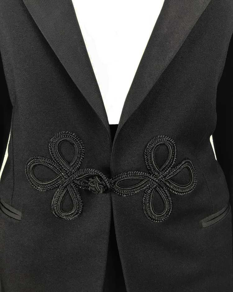 Gucci 1970s Black Smoking Two Piece Suit - image 5