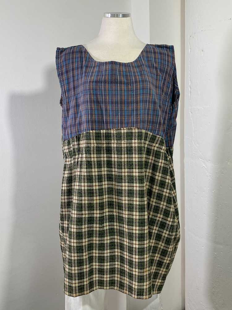 1960s-70s French Patchwork Peasant Dress - Lg. - image 8