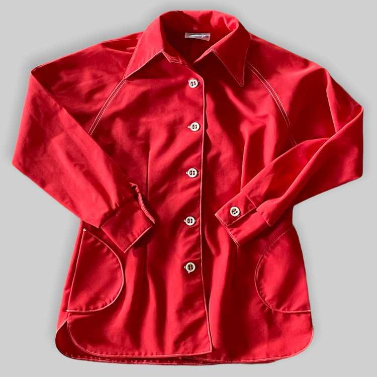 70's Polyester Shirt/Jacket - image 2