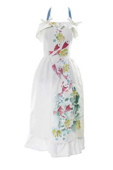 """Museum collectible Tina Leser hand painted dress """""""