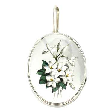Victorian Sterling Silver Lily of the Valley Ename