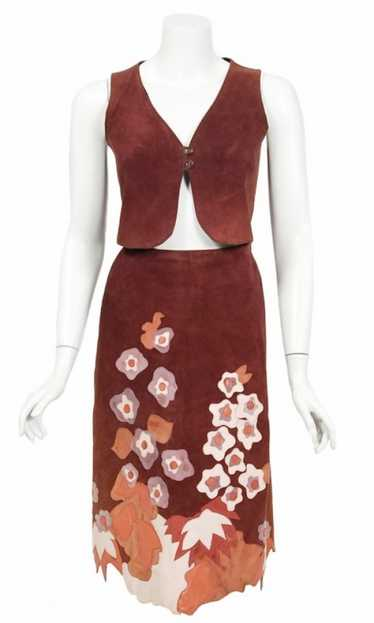 1970's Eavis & Brown Patchwork Leather Applique Bo