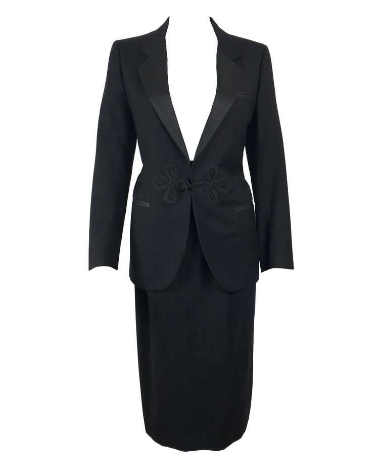Gucci 1970s Black Smoking Two Piece Suit - image 1