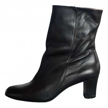 Robert Clergerie Black Leather Boots for Women 41.