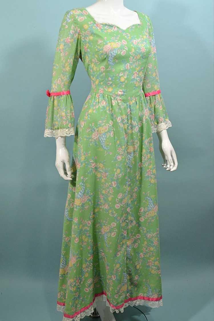 Vintage Cottagecore Prairie Fairycore Maxi Dress,… - image 3