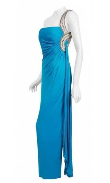 1986 Travilla Couture Whitney Houston Design Blue
