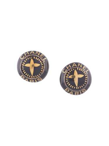 Chanel Pre-Owned - 1997 logo button earrings - wom