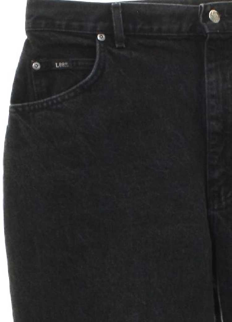 1980's Lee Womens Lee Highwaisted Denim Jeans Pan… - image 2