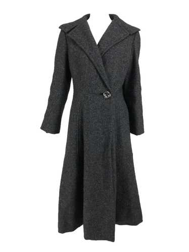 Pauline Trigere Grey Flecked Wool Princess Coat 19