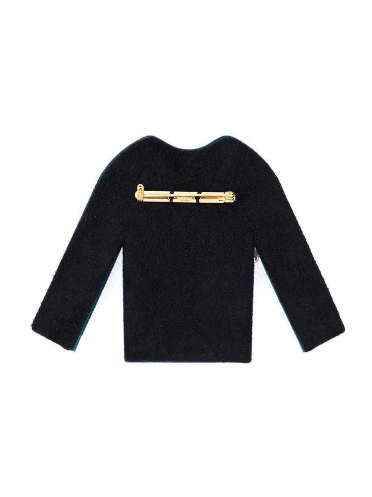 Chanel Pre-Owned 1990's embellished felt jacket b… - image 3