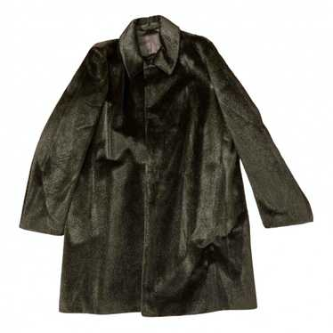 Raf Simons Black Faux fur coat for Men 46 IT