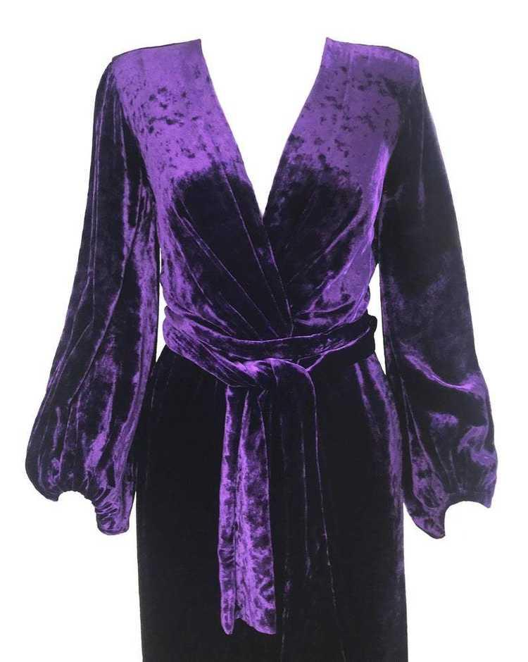 Yves Saint Laurent 1970s Velvet Gown - image 3
