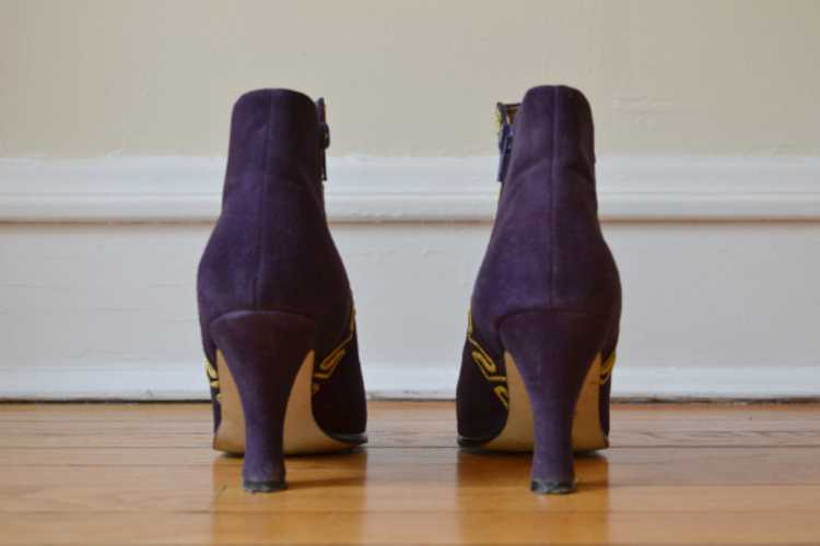 1980's Purple Suede Boots - image 10