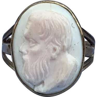 Angelskin Coral Cameo Ring, Victorian