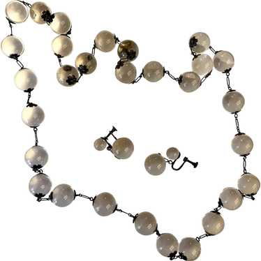 Rare and Gorgeous POOLS OF LIGHT Necklace and Earr