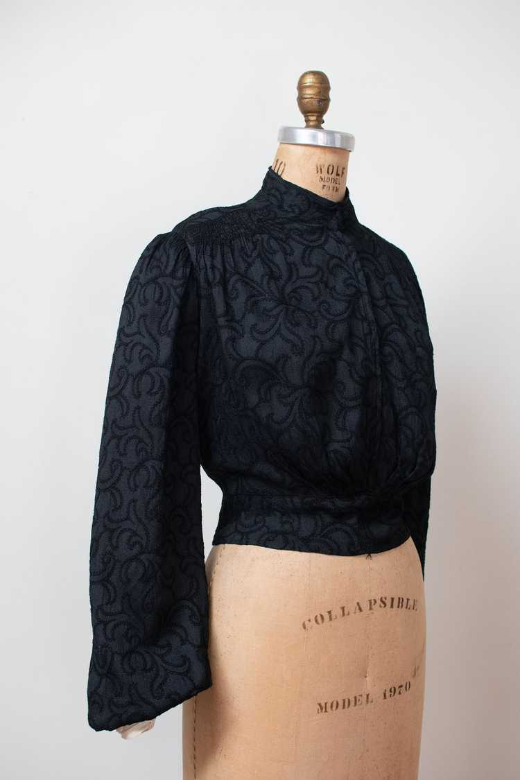 Antique Embroidered Blouse - image 1