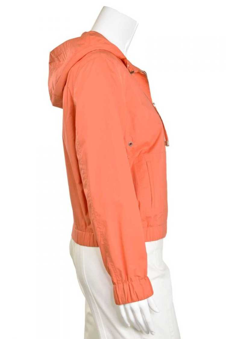 Escada Orange Bomber Zip Hooded Jacket - image 5