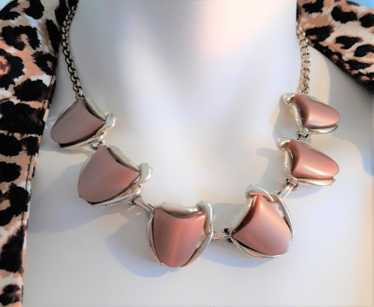 Chocolate Brown Thermoset Necklace - Stunning, 195