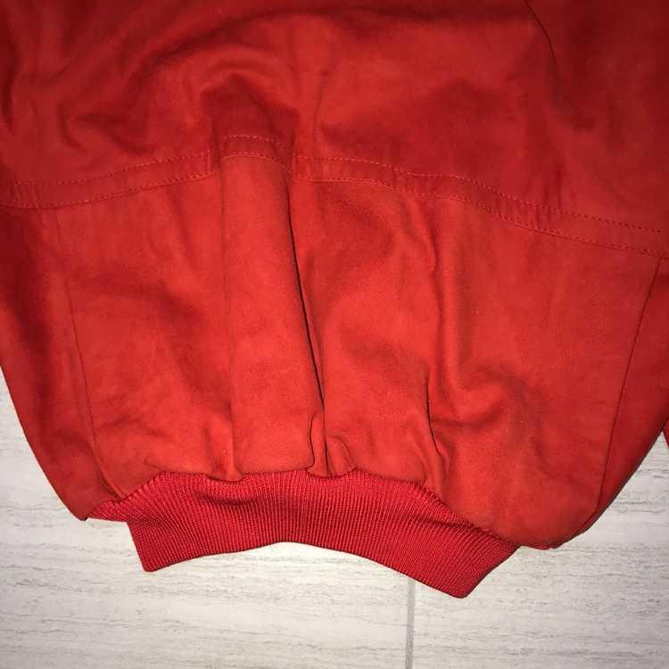 Italian Designers × Vintage Red Leather Crewneck … - image 2
