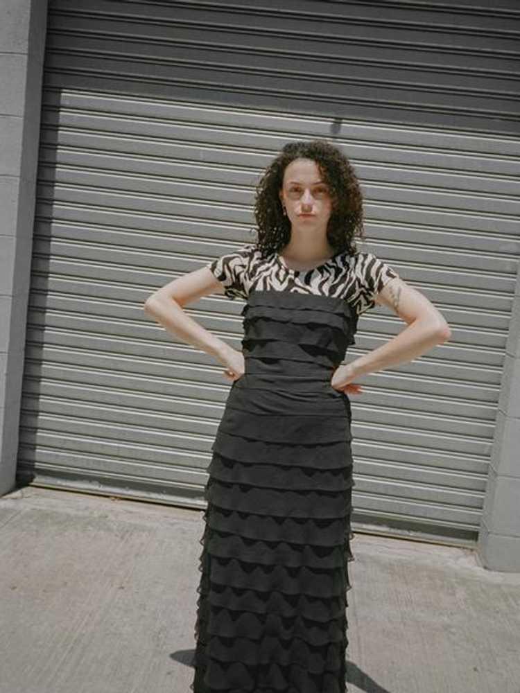 Tiered Silk Chiffon Dress - image 5
