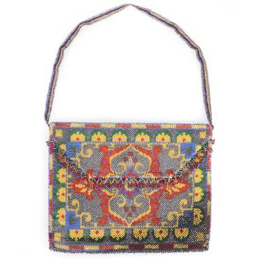 Vintage 20s Beaded Carpet Bag