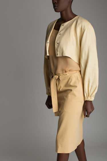 Vintage Claude Montana Linen Jacket