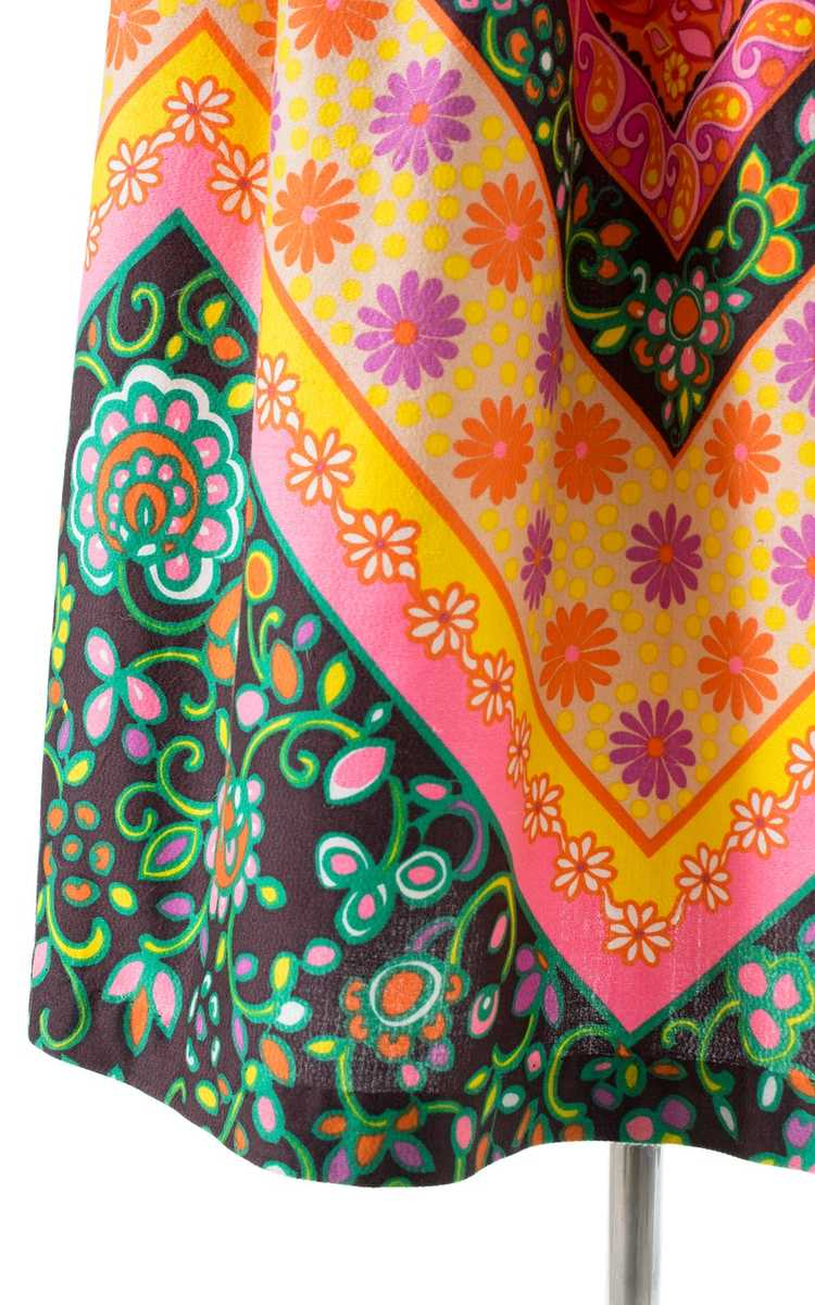 NEW ARRIVAL || 1960s Floral Geometric Maxi Skirt … - image 8