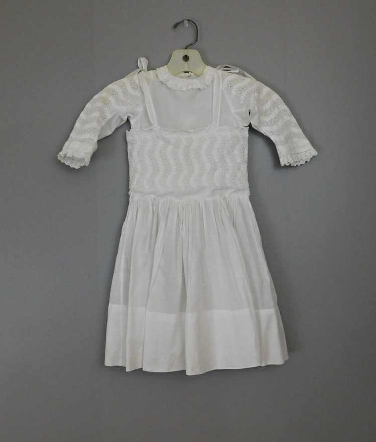 Antique Edwardian Little Girl Dress, Embroidered … - image 3