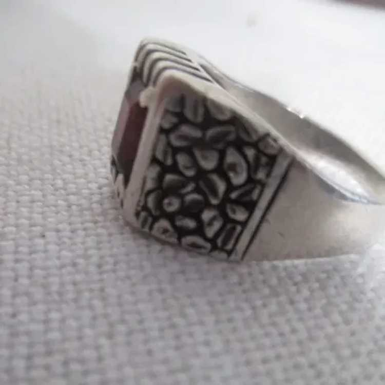 Sterling Silver Ring with Ruby - image 10