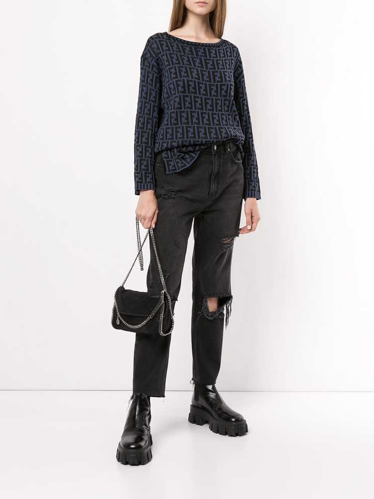 Fendi Pre-Owned Zucca pattern knitted top - Black - image 2