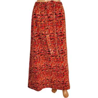 Vintage Lilly Pulitzer Maxi Skirt 1960s Printed Ve