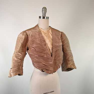 Edwardian Moire Silk Bodice