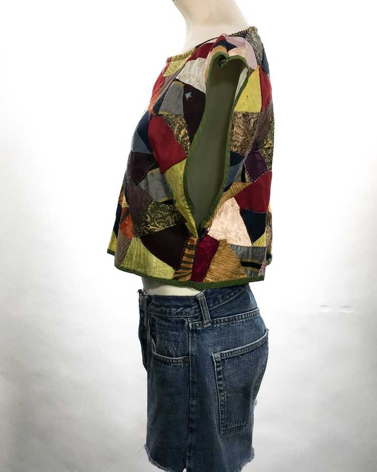 Handmade Crop Top from 1940s Quilt - image 4