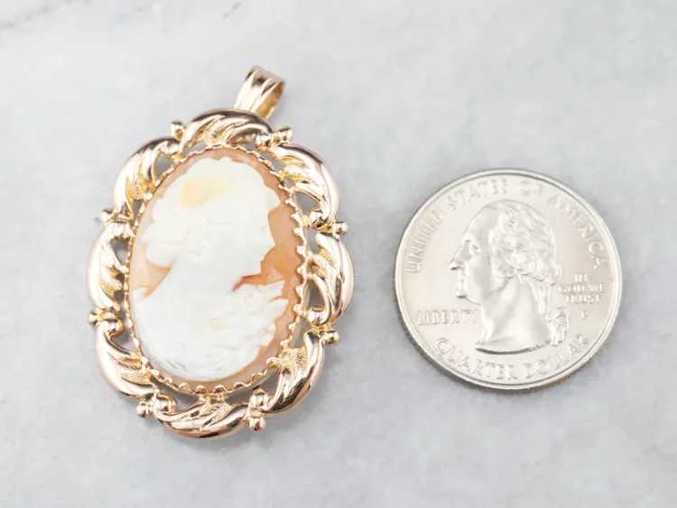 Mid Century Cameo Pendant or Pin - image 7