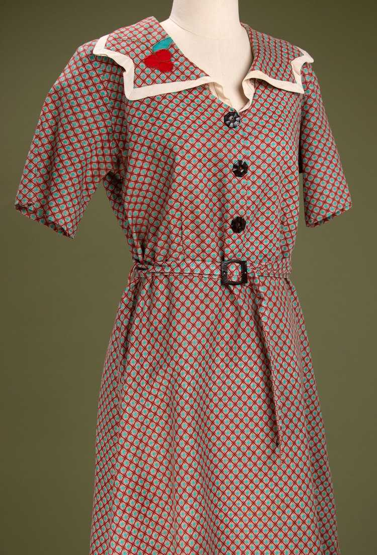 Vintage 1930's - Early 1940's Cotton Dress - image 1