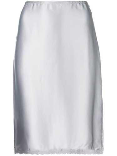 Versace Pre-Owned high waist skirt - Metallic