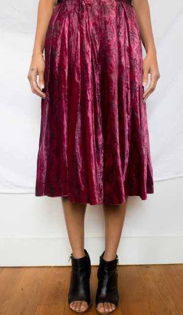 Nelly De Grab velvet skirt