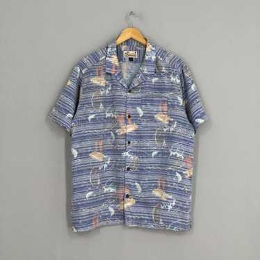 Vintage Aloha Hawaiian Diamond Motive Shirt
