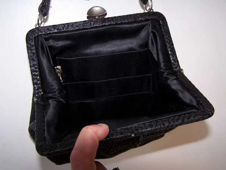 Town and Country Black Leather Handbag - image 5