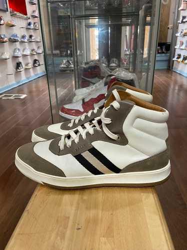 Bally Bally white/mocha high top sneakers