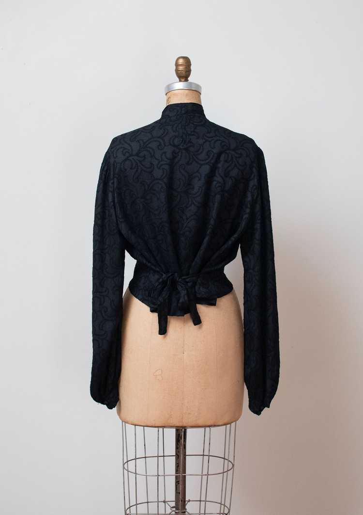 Antique Embroidered Blouse - image 6